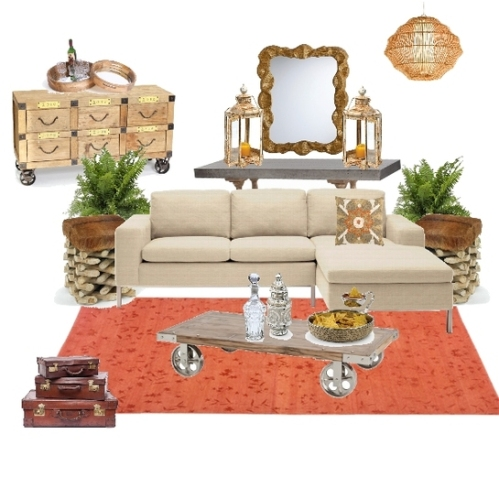 Touch of Tangerine Project Decor Board